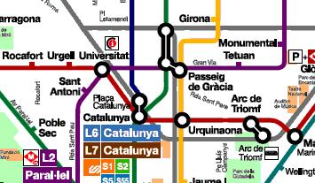 Cartina Metro Barcellona.Mappa Metro Barcellona Destinobcn Destino Barcellona